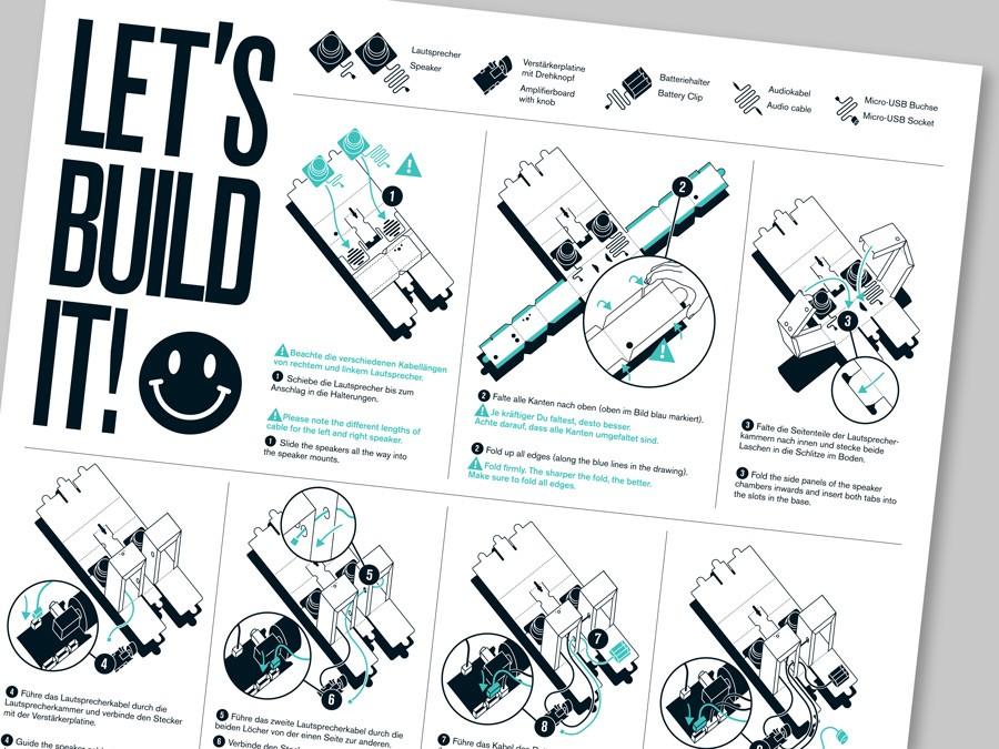 Manual of Berlin Boombox speaker DIY kit