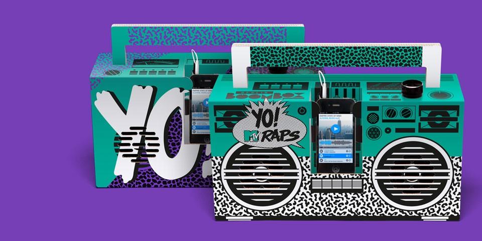 Yo! MTV Raps Boombox - Header