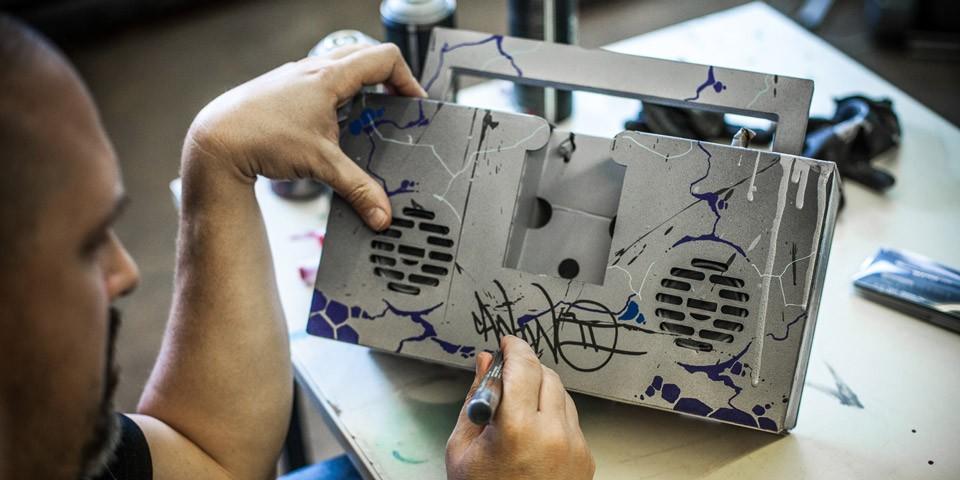 Montana Boombox by Graffiti Artist CANTWO