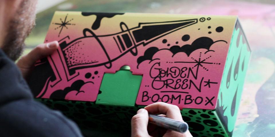 Montana Boombox by Golden Green